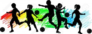 11107642-Soccer-Players-Silhouettes-of-Children-Boys-and-Girls-Stock-Vector